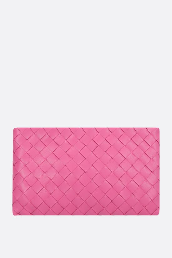 BOTTEGA VENETA: Intrecciato nappa medium pouch Color Pink_1