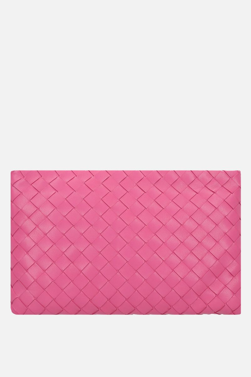 BOTTEGA VENETA: Billeto large pouch in Intrecciato nappa Color Pink_1