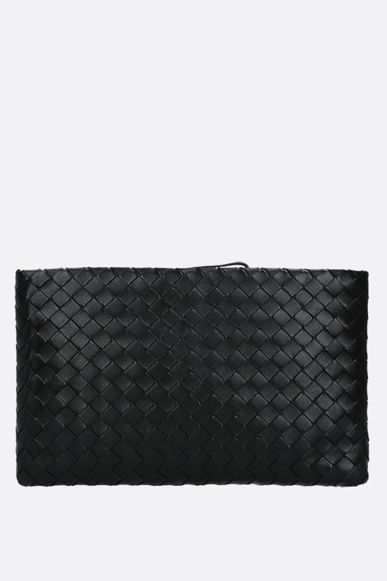 BOTTEGA VENETA: porta documenti large in Intrecciato nappa Colore Nero_1