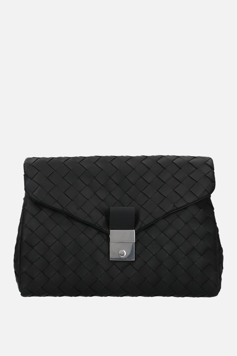 BOTTEGA VENETA: porta documenti small in Intrecciato nappa Colore Nero_1