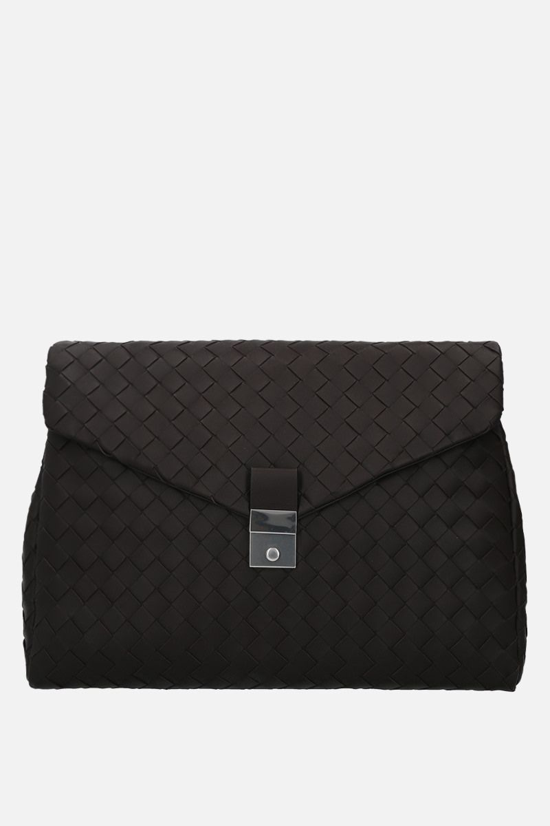 BOTTEGA VENETA: Intrecciato nappa medium document holder Color Brown_1
