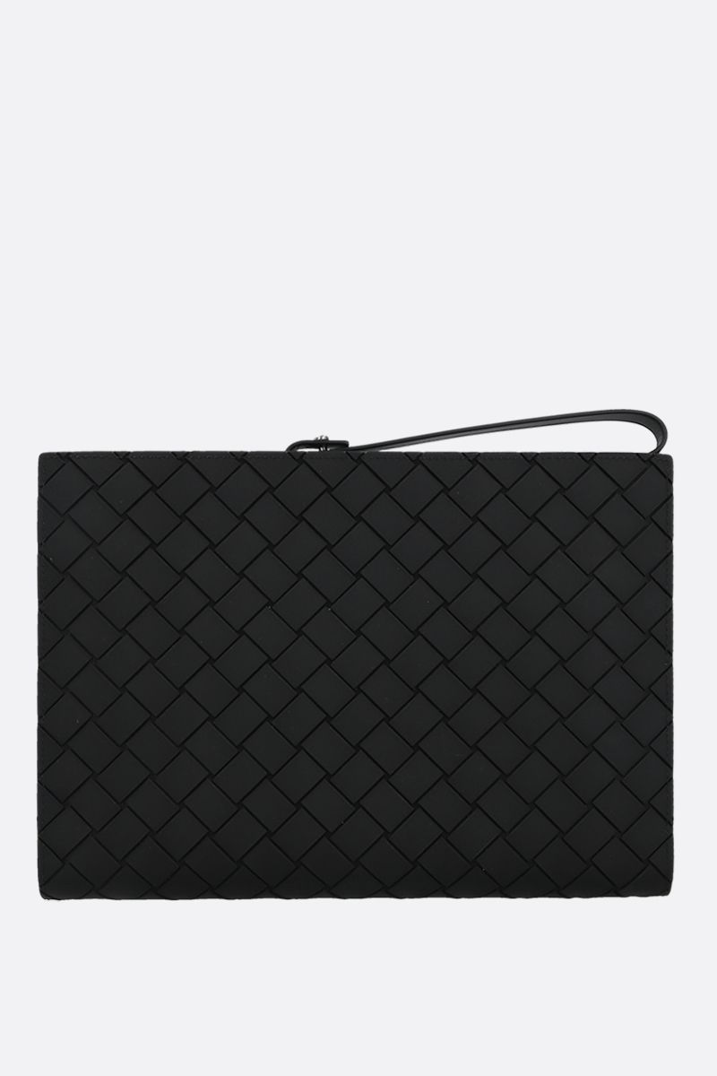 BOTTEGA VENETA: embossed Intrecciato document holder Color Black_1