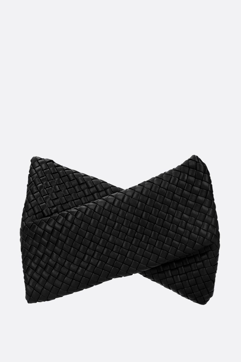BOTTEGA VENETA: BV Crisscross clutch in padded Intrecciato nappa Color Black_1