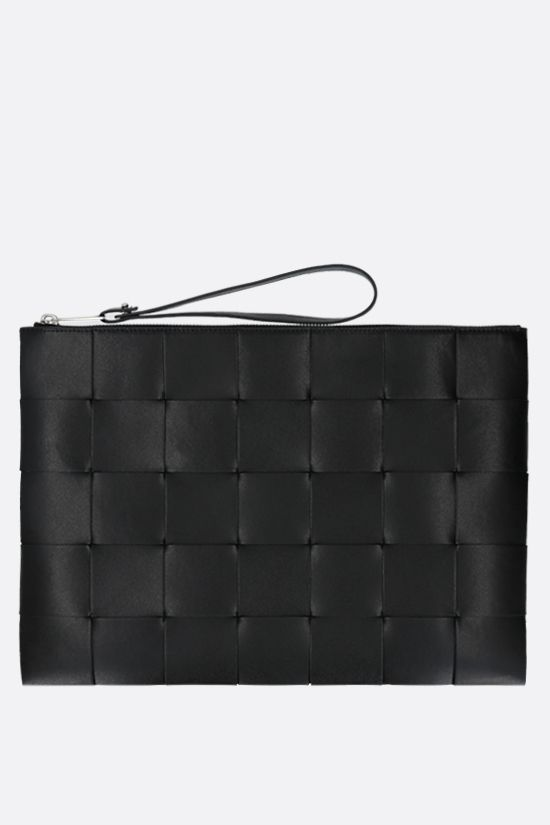 BOTTEGA VENETA: Maxi Intrecciato clutch Color Black_1