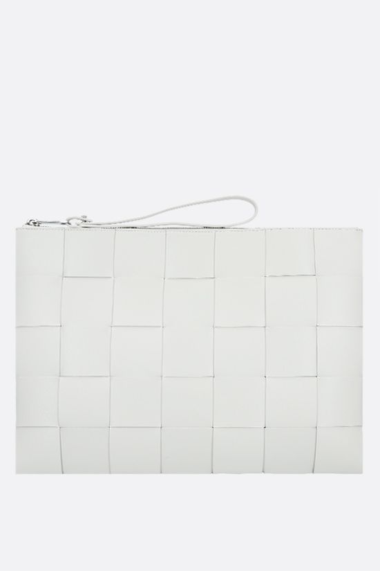 BOTTEGA VENETA: Maxi Intrecciato clutch Color White_1