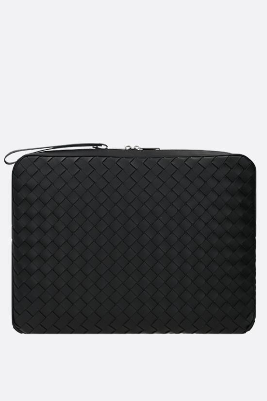 BOTTEGA VENETA: Intrecciato Hidrology clutch Color Black_1