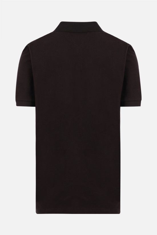 BOTTEGA VENETA: cotton piquet polo shirt Color Brown_2