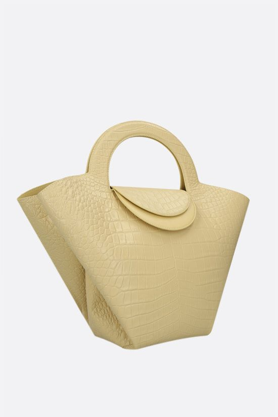 BOTTEGA VENETA: Doll large croc-embossed leather tote bag Color Neutral_2