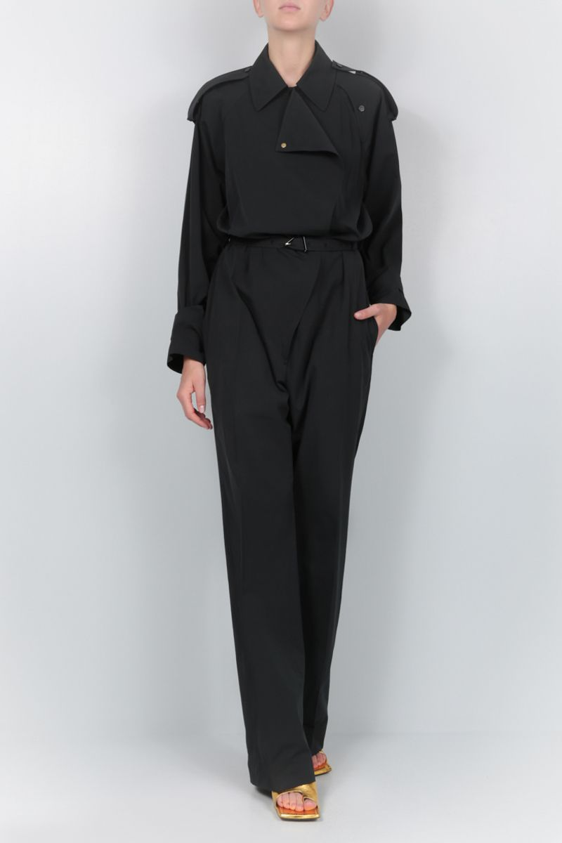 BOTTEGA VENETA: technical cotton jumpsuit Color Black_2