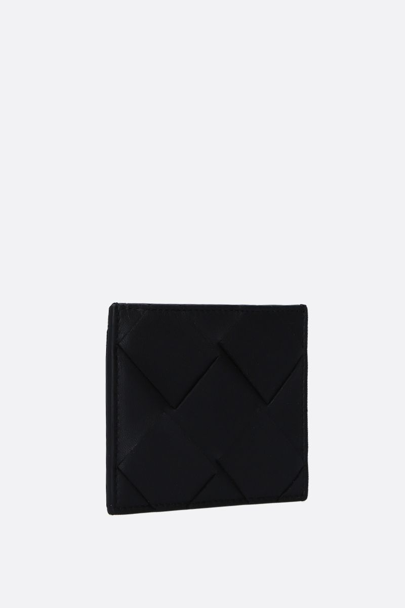 BOTTEGA VENETA: Maxi Intrecciato card case Color Black_2