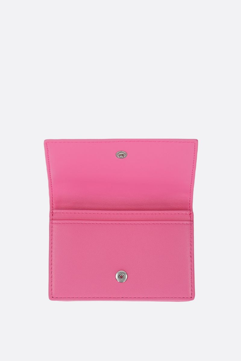 BOTTEGA VENETA: Intrecciato nappa card case Color Pink_2