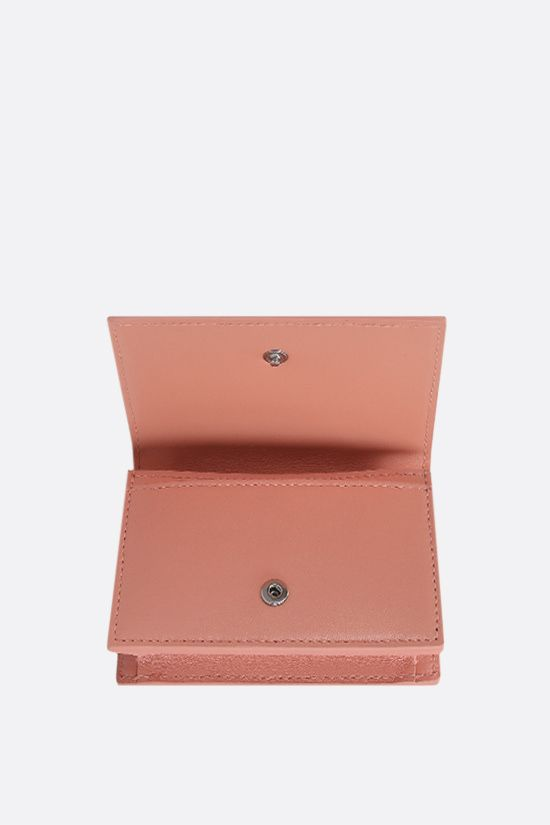 BOTTEGA VENETA: Intrecciato nappa flap card case Color Orange_2
