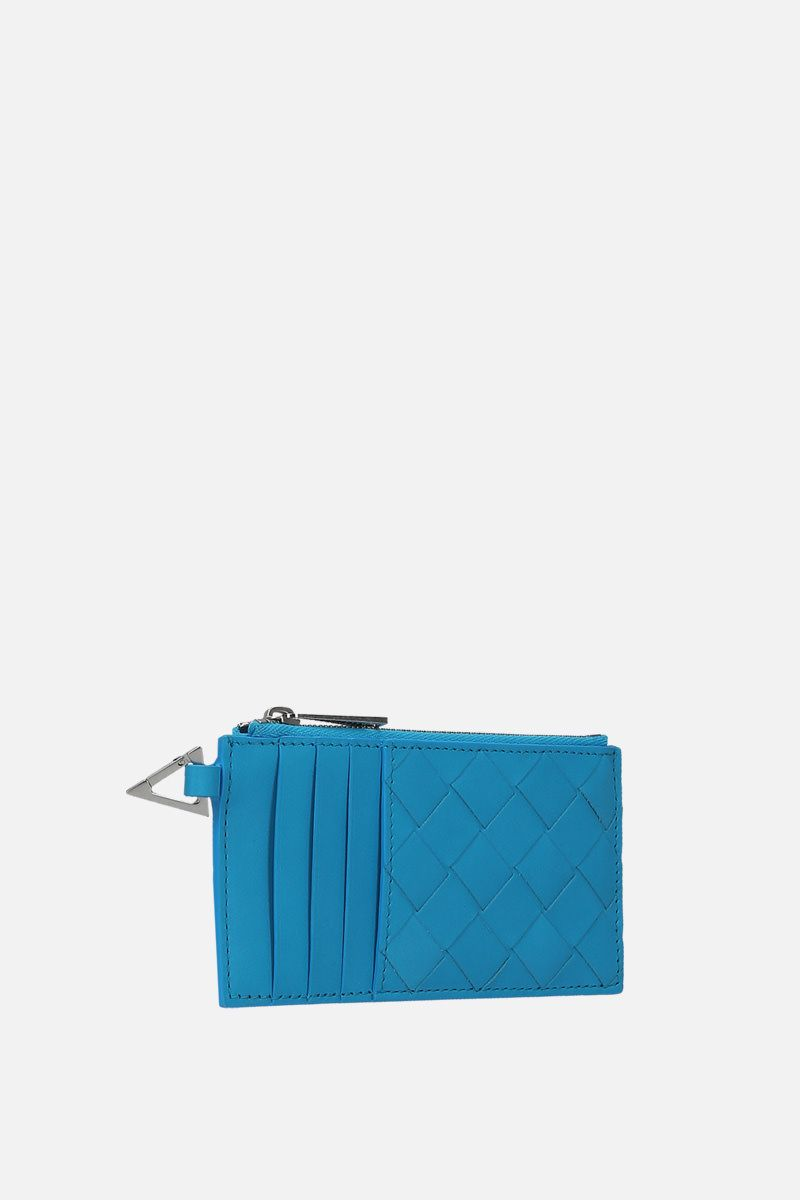 BOTTEGA VENETA: Intrecciato VN card case Color Blue_2
