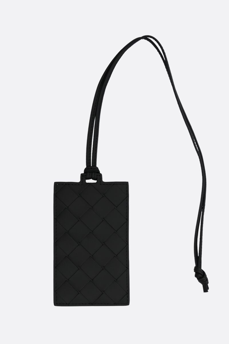 BOTTEGA VENETA: Intrecciato VN badge holder Color Black_2