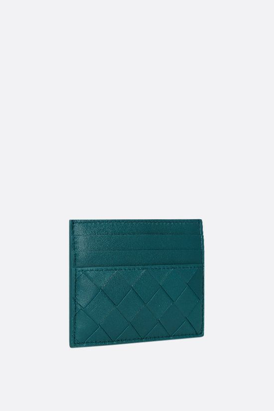 BOTTEGA VENETA: Intrecciato nappa card case Color Blue_2
