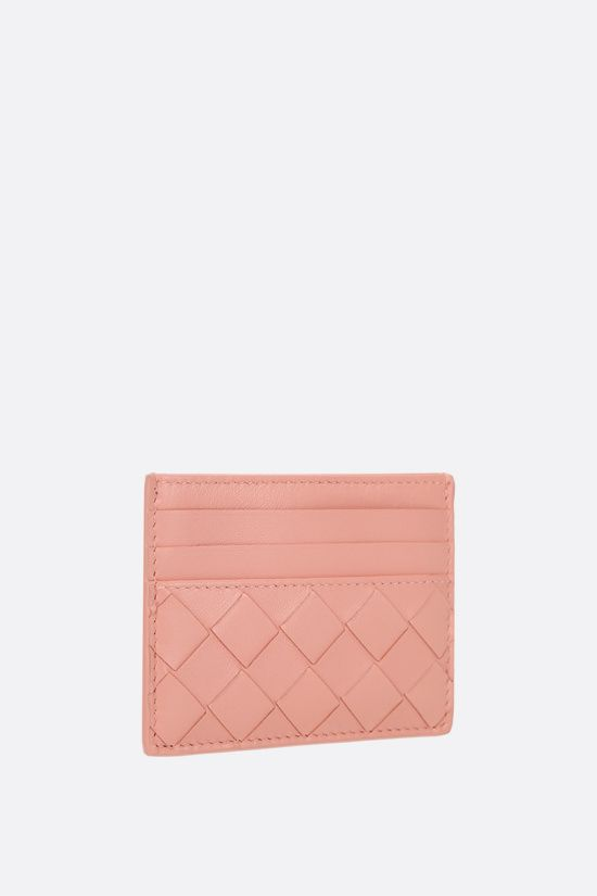 BOTTEGA VENETA: Intrecciato nappa card case Color Orange_2