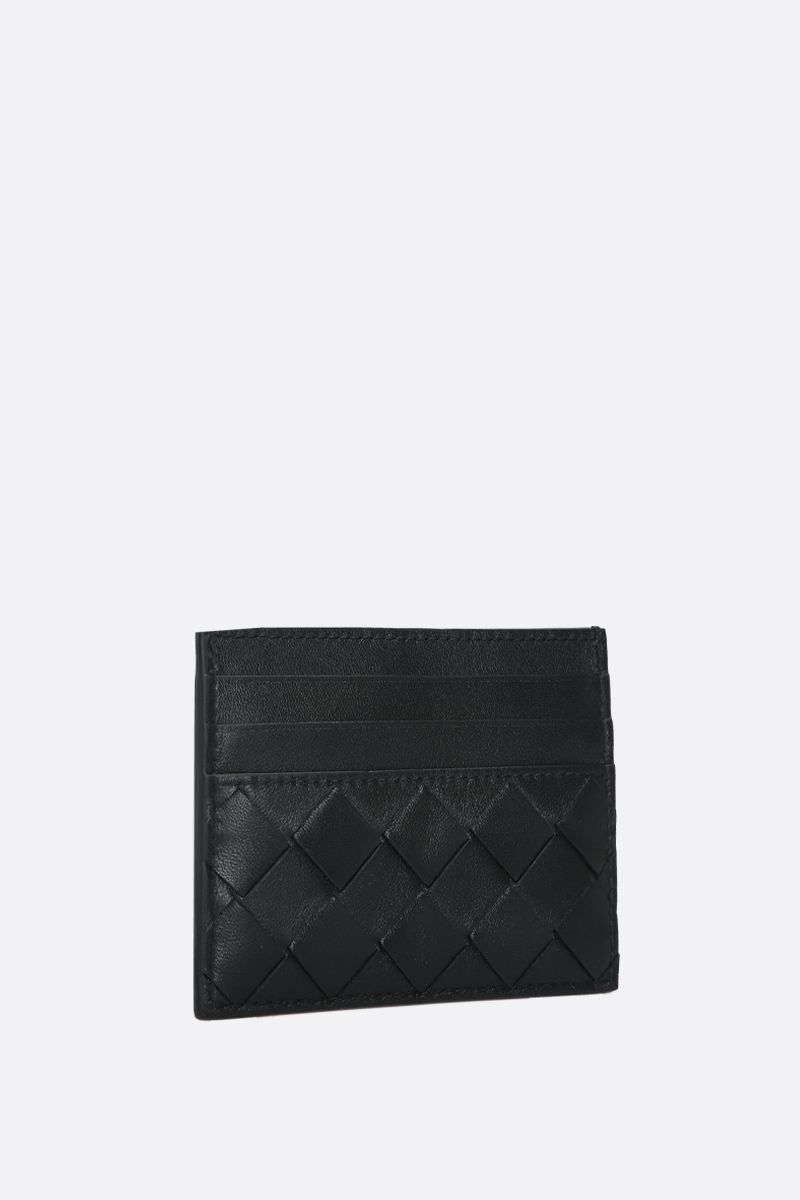 BOTTEGA VENETA: Intrecciato nappa card case Color Black_2