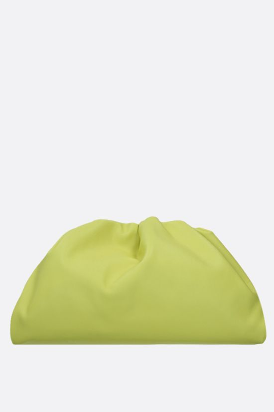 BOTTEGA VENETA: The Pouch smooth leather clutch Color Green_1