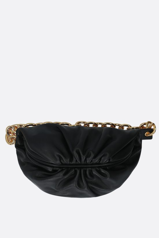 BOTTEGA VENETA: The Pouch mini smooth leather belt bag Color Black_1
