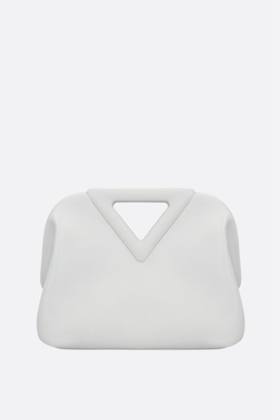 BOTTEGA VENETA: Point mini smooth leather handbag Color White_1