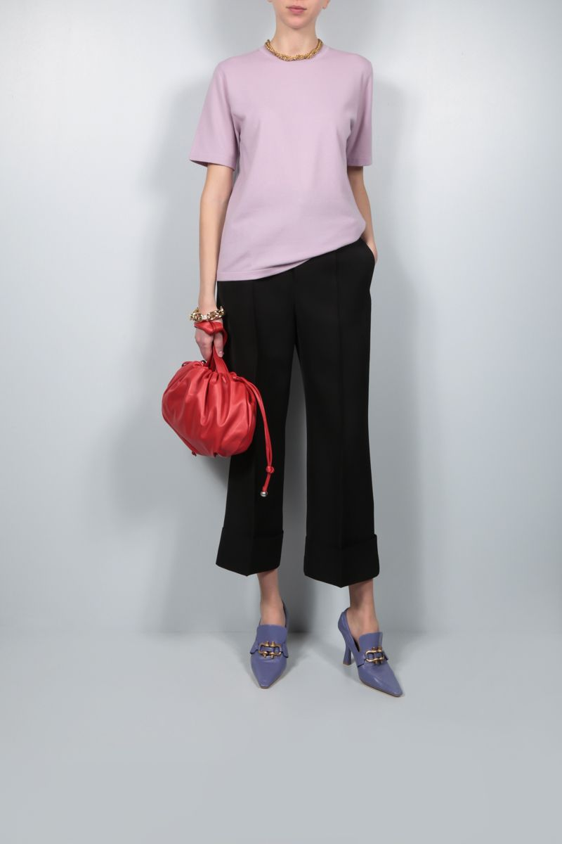 BOTTEGA VENETA: cashmere blend short-sleeved pullover Color Pink_2