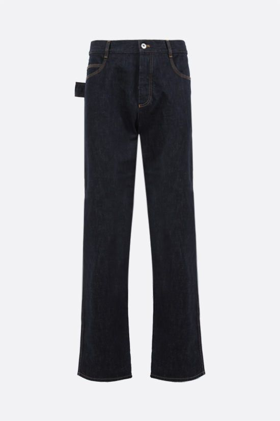 BOTTEGA VENETA: loop-detailed regular-fit jeans Color Blue_1