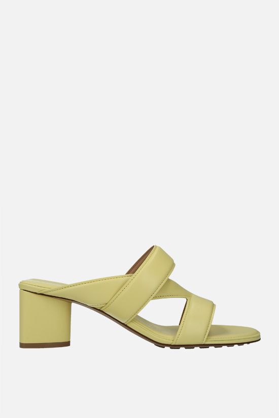 BOTTEGA VENETA: The band smooth leather mule sandals Color Yellow_1