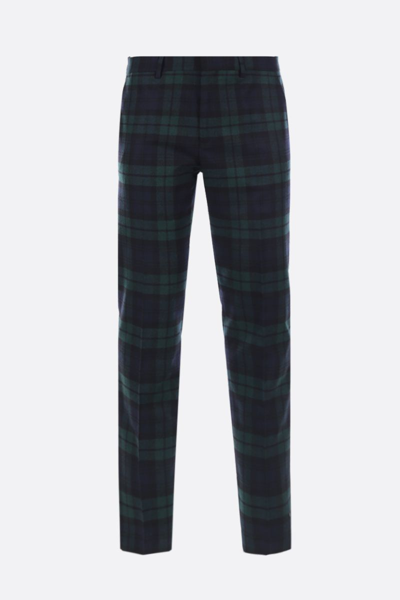 GOLDEN GOOSE DELUXE BRAND: Golden pants in check wool blend Color Black_1