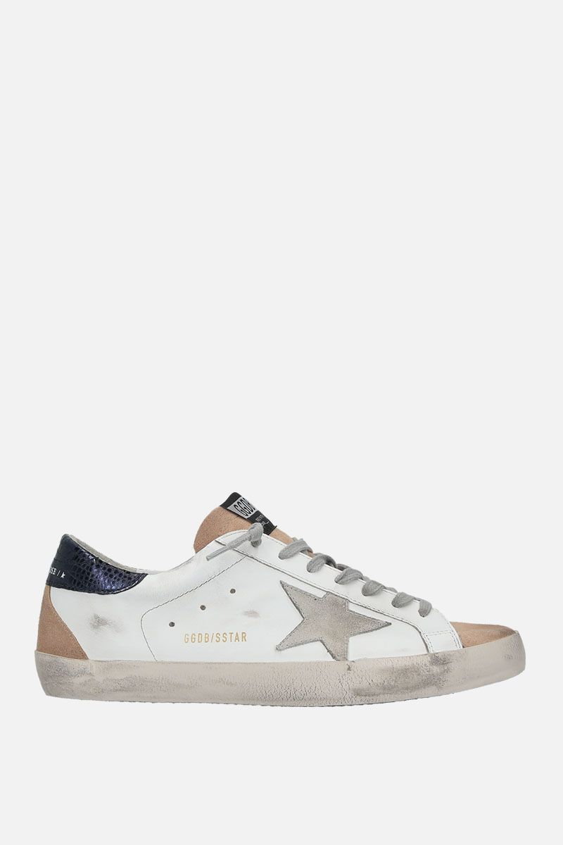 GOLDEN GOOSE DELUXE BRAND: Superstar sneakers in smooth leather and suede_1