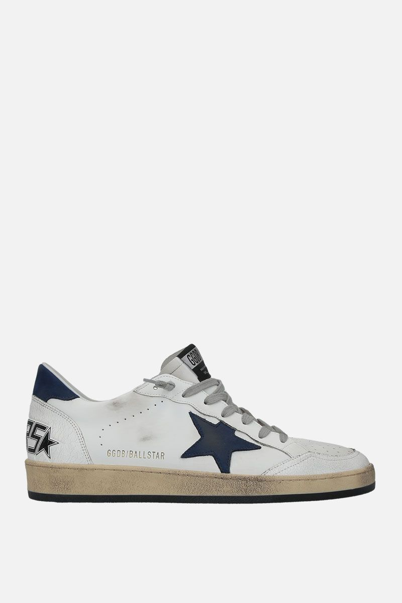 GOLDEN GOOSE DELUXE BRAND: Ball Star sneakers in smooth leather and nabuk Color Multicolor_1