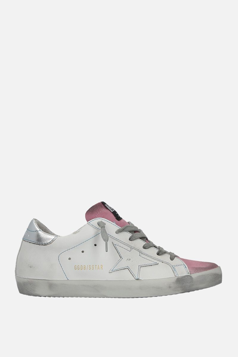 GOLDEN GOOSE DELUXE BRAND: Superstar sneakers in smoooth leather and suede Color Multicolor_1