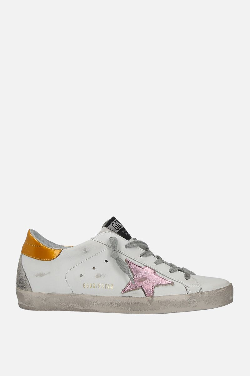 GOLDEN GOOSE DELUXE BRAND: Superstar sneakers in smooth leather and suede Color White_1