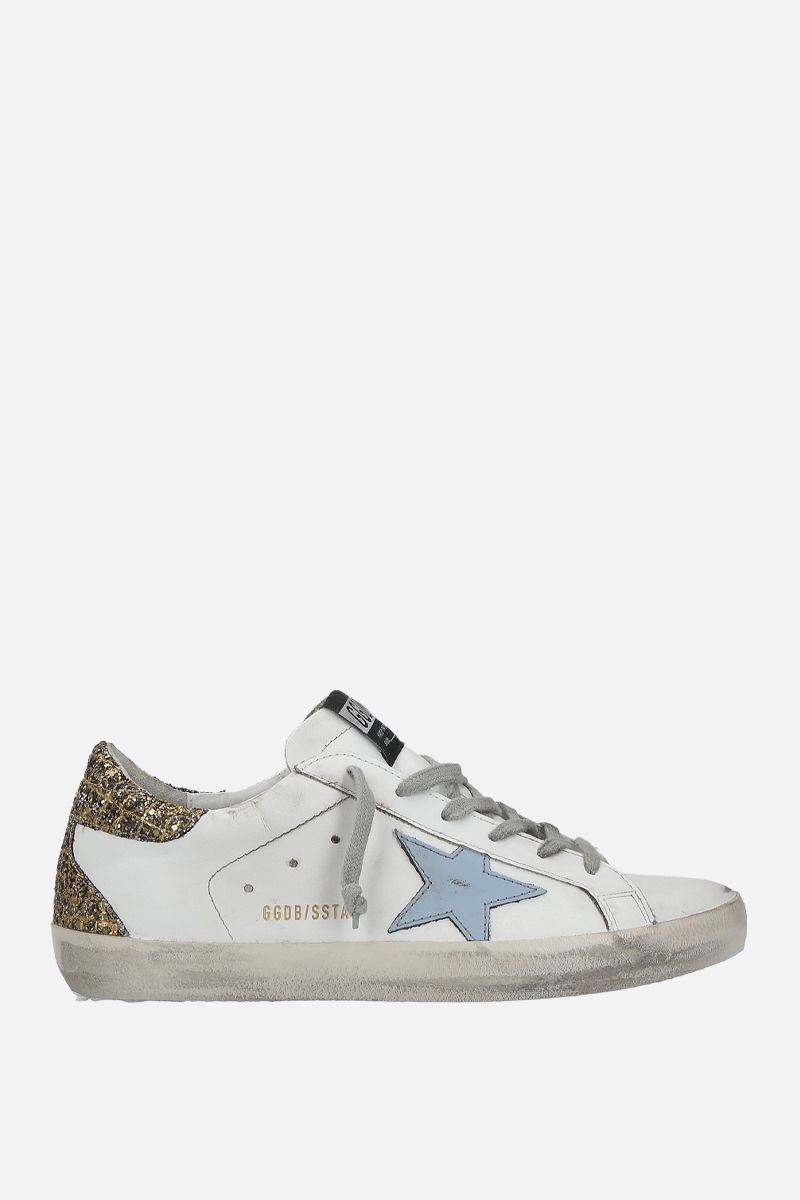GOLDEN GOOSE DELUXE BRAND: Superstar sneakers in smooth leather and glitter Color Multicolor_1