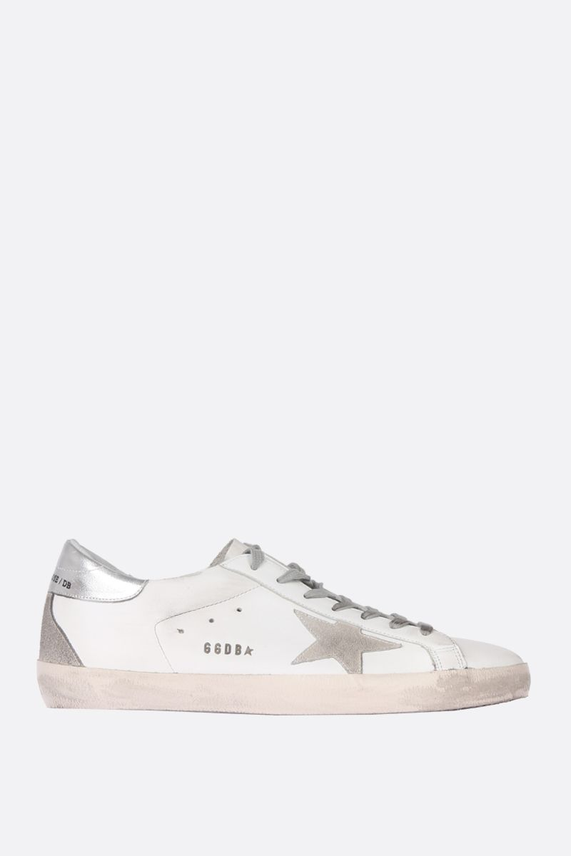 GOLDEN GOOSE DELUXE BRAND: Superstar sneakers in smooth leather and suede Color Multicolor_1