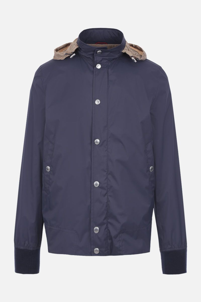 BRUNELLO CUCINELLI: techical fabric bomber jacket Color Blue_2