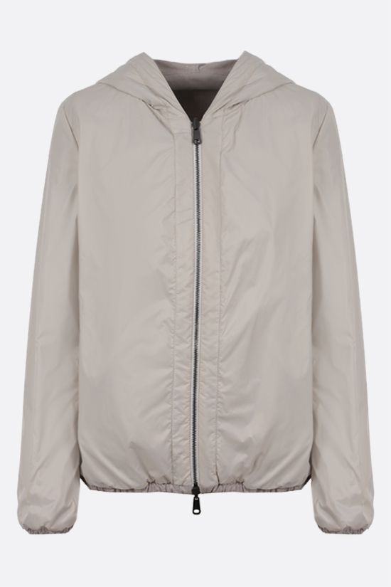 BRUNELLO CUCINELLI: suede and nylon reversible jacket Color Neutral_2
