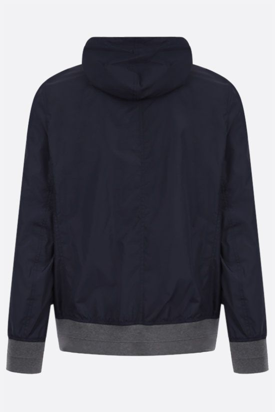 BRUNELLO CUCINELLI: nylon bomber jacket Color Blue_2