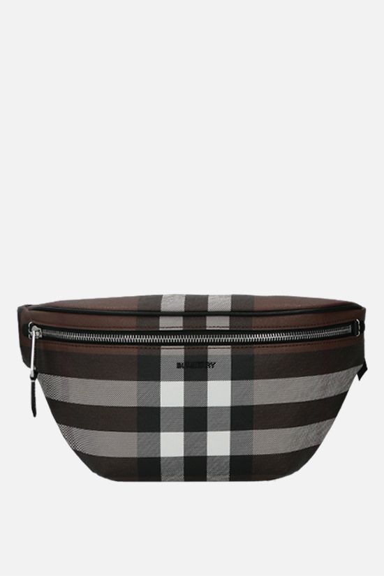 BURBERRY: marsupio Cason in E-canvas Colore Marrone_1