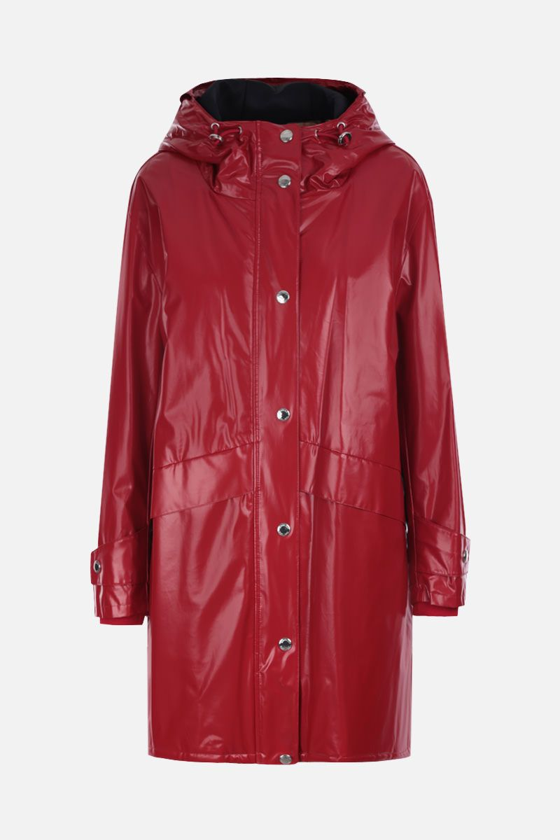 BURBERRY: Cramond padded parka in coated jersey Color Red_1