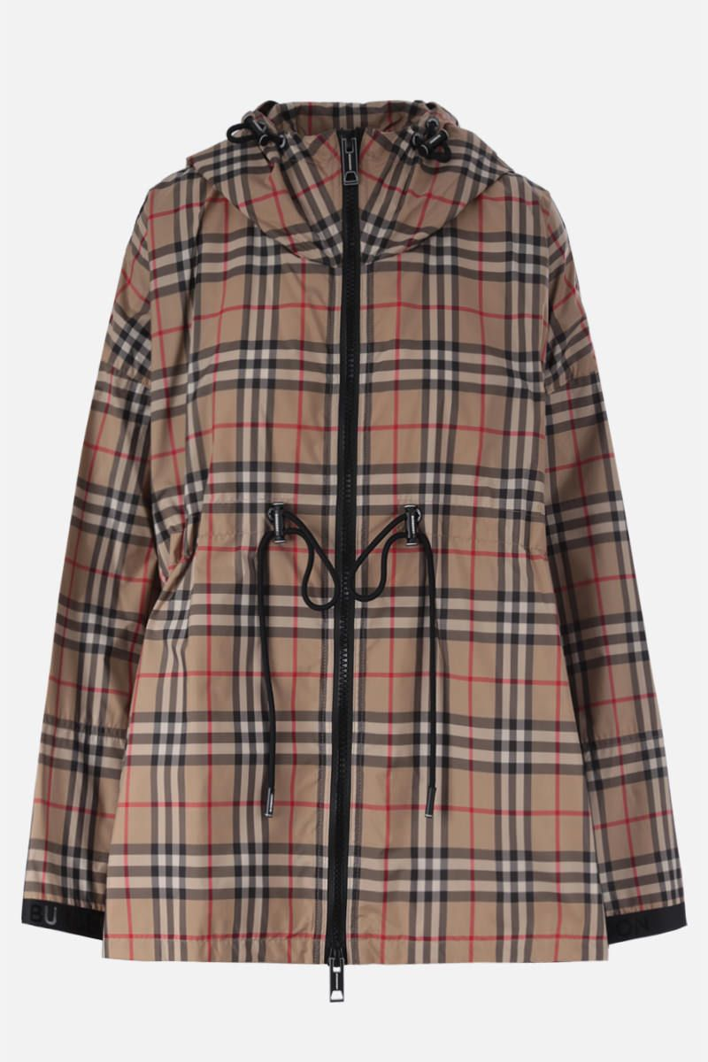 BURBERRY: Bacton nylon parka Color Brown_1