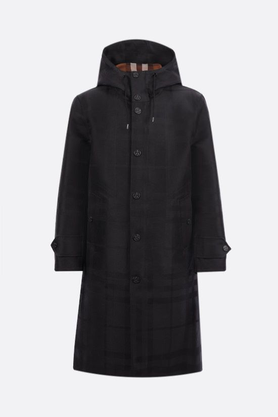 BURBERRY: Witham technical cotton parka Color Black_1