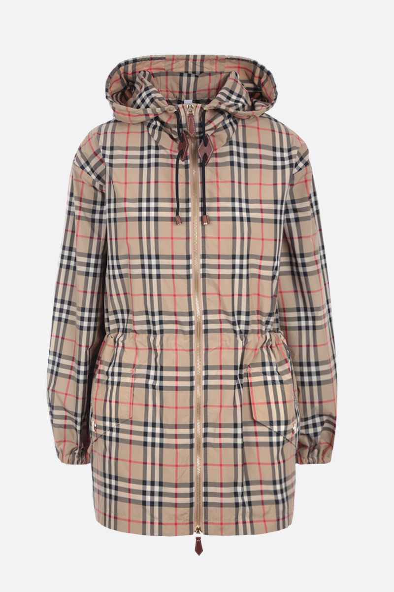BURBERRY: Binham recycled polyester parka coat Color Neutral_1