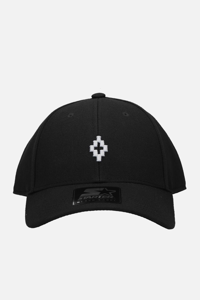 MARCELO BURLON COUNTY OF MILAN: Cross baseball cap in gabardine Color Black_1