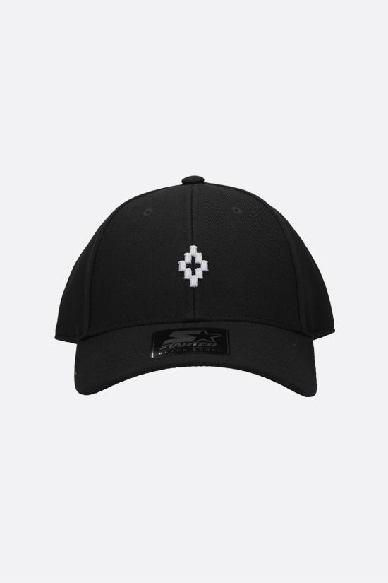 MARCELO BURLON COUNTY OF MILAN: Cross gabardine baseball cap Color Black_1