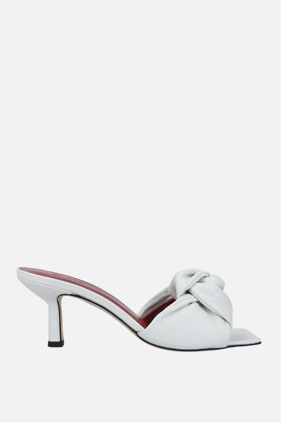 BY FAR: Lana smooth leather mule sandals Color White_1