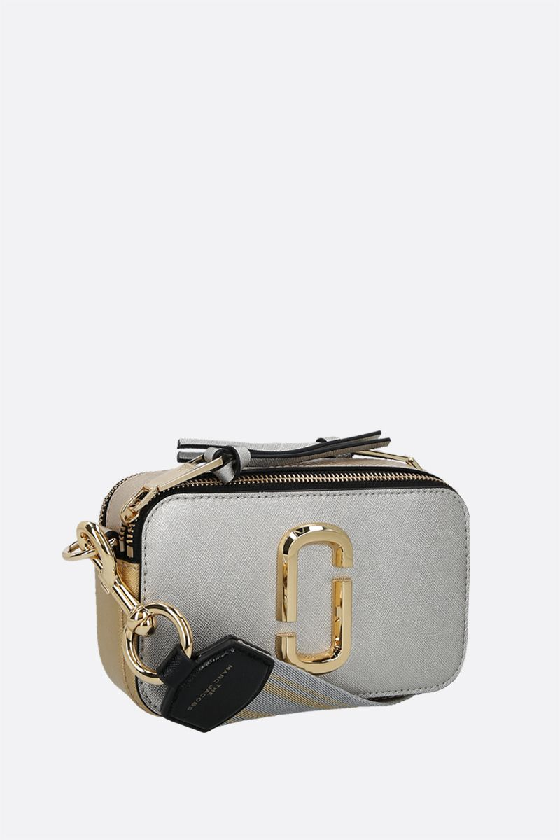 MARC JACOBS: Snapshot small crossgrain leather camera bag Color Gold_2