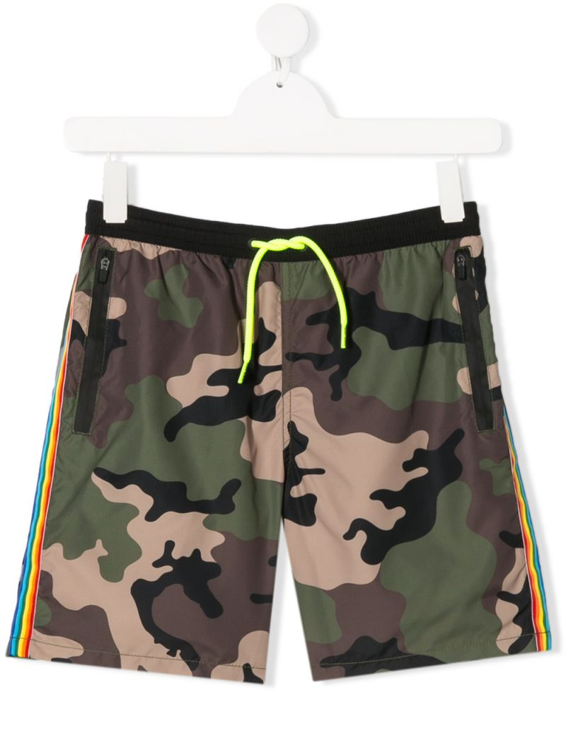 MC2 Saint Barth: camouflage print nylon swim shorts Color Green_1