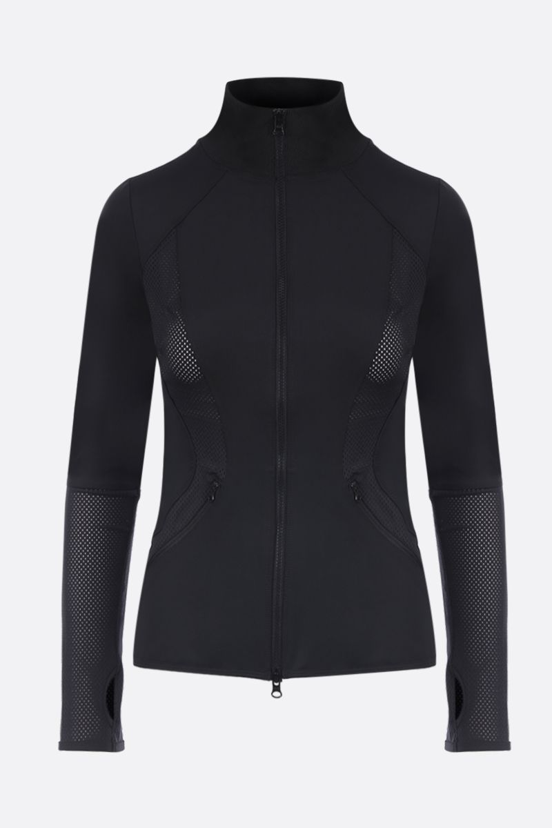 ADIDAS BY STELLA McCARTNEY: Essentials full-zip sweatshirt with mesh inserts Color Black_1