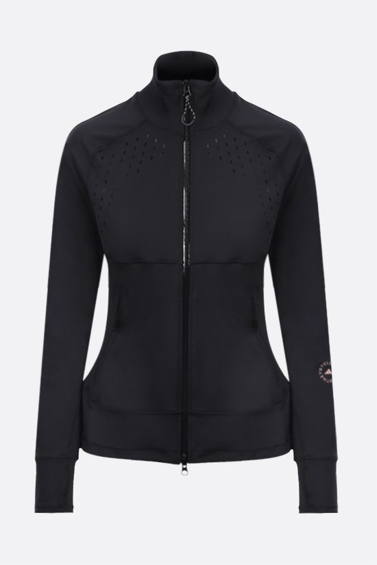 ADIDAS BY STELLA McCARTNEY: Truepace full-zip stretch jersey sweatshirt Color Black_1