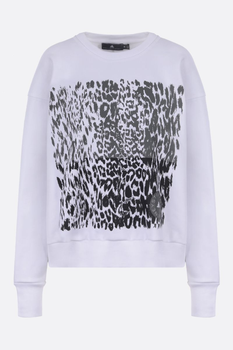 ADIDAS BY STELLA McCARTNEY: felpa cropped adidas by Stella McCartney in misto cotone Colore Bianco_1